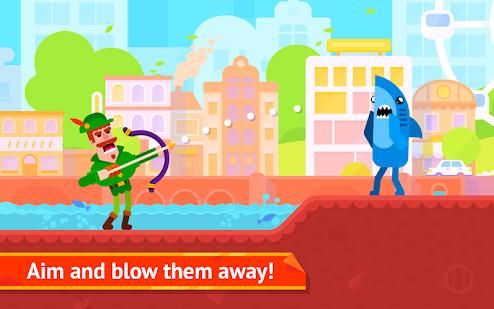 تحميل لعبة Bowmasters مهكرة للاندرويد