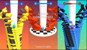تحميل لعبة Stack Ball مهكرة احدث اصدار للاندرويد