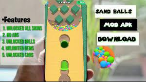 تحميل لعبة sand balls مهكرة للاندرويد